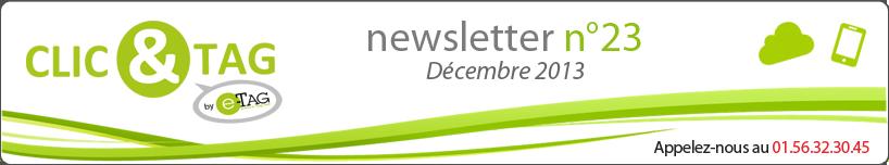 Newsletter E-Tag | Décembre 2013